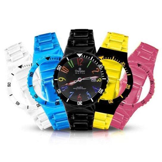 a48ec2e9988 Relógio Unissex Champion Analógico Cp30119m Troca Pulseira Kit - Colorido