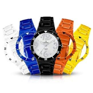 a3e2eae71ad Relógio Unissex Champion Analógico Cp30182r Troca Pulseira Kit