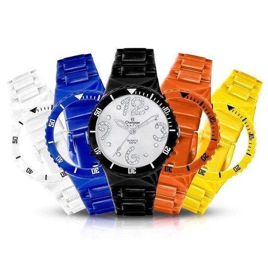 32bdde08ee3 Relógio Unissex Champion Analógico Cp30182r Troca Pulseira Kit - Colorido