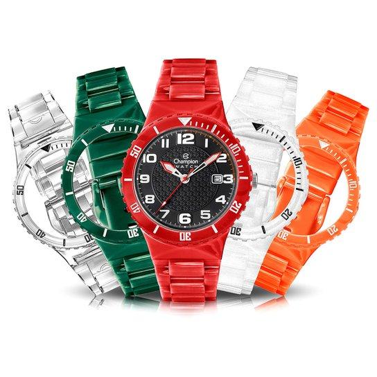 f18fe4de7d5 Relógio Champion Analógico Kit Troca Pulseiras Masculino CP30819N - Colorido