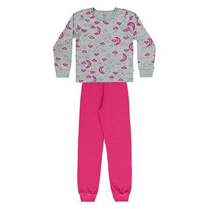 Pijama Infantil Longo Boca Grande Sonhos  Feminino