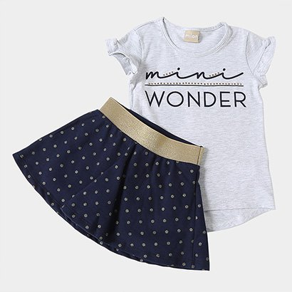 Conjunto Infantil Milon Cotton Moletinho Short