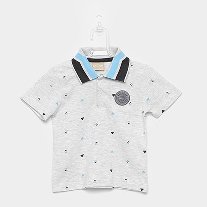 Camisa Polo Infantil Milon Bordado Masculina