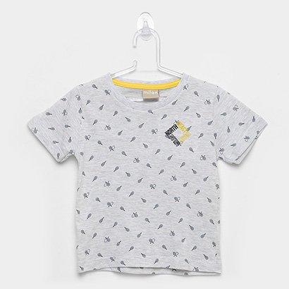Camiseta Infantil Milon Raquetes Masculina