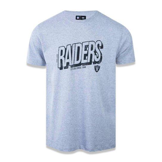 ecc754217f6ac Camiseta Oakland Raiders NFL New Era Masculina - Mescla - Compre ...