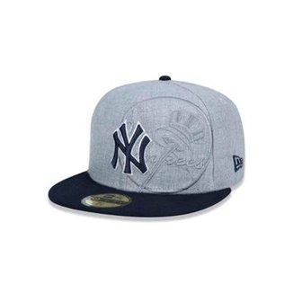 Boné 5950 New York Yankees MLB Aba Reta New Era c0e67b684b3
