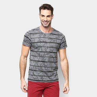 635990e02a168 Camiseta All Free Listrada Floral Masculina