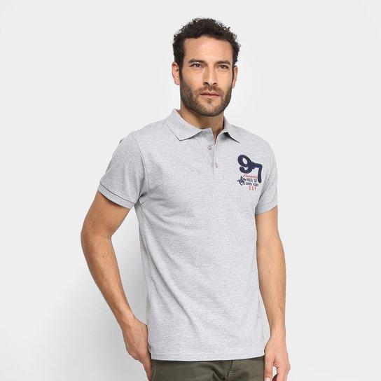 7dd40d42a06 Camisa Polo Polo Up Bordado Masculina - Mescla - Compre Agora  Netshoes ... a787d61bd22d5
