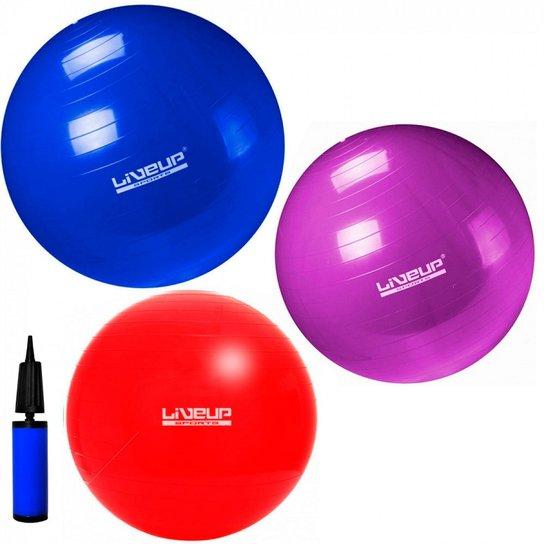 Kit Pilates com 3 Bolas Suicas Tamanhos 45 Cm + 55 Cm + 65 Cm + Mini ... 6177dac6c950d