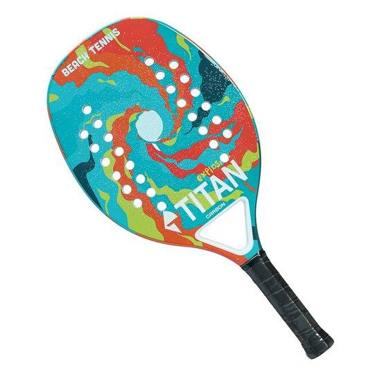 9d8f6a0a3 Raquete De Beach Tennis Titan Explosion Carbon 25Mm - Colorido ...