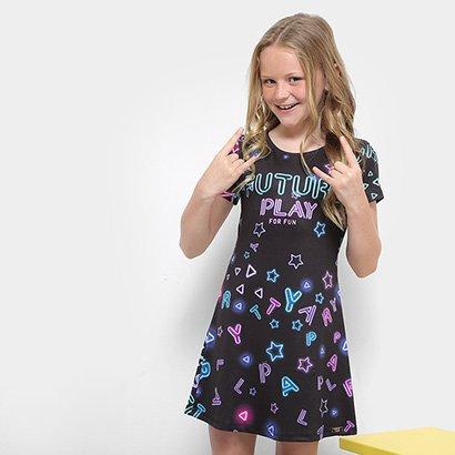 Vestido Infantil Dimy Candy Future Play Neon Feminina