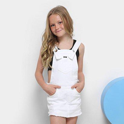Macaquinho Infantil Dimy Candy Sarja Feminino