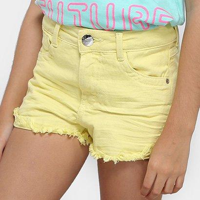 Shorts Infantil Dimy Candy Boyfriend Estonado Barra Desfiada Feminino