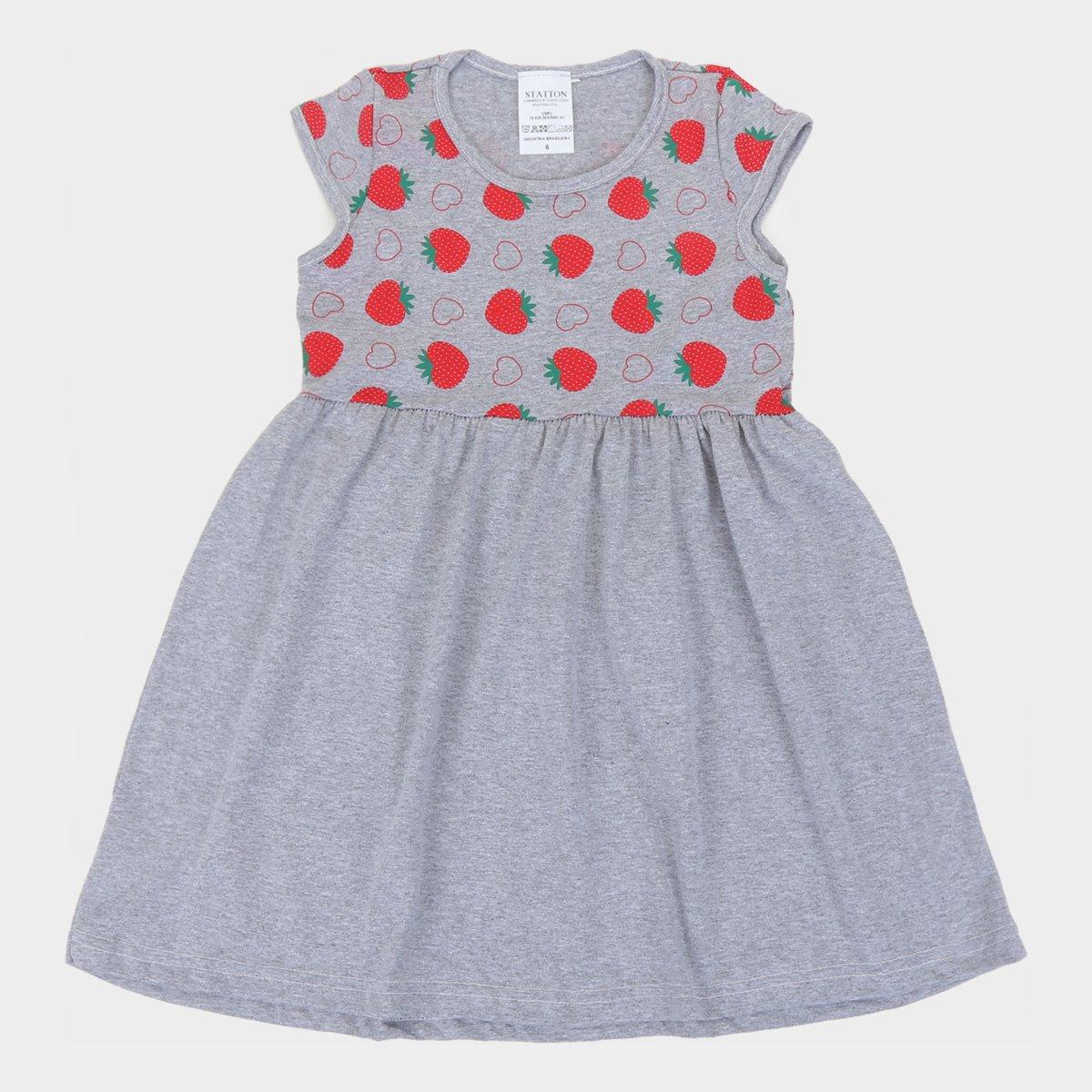 Vestido Infantil Candy Kids Morangos