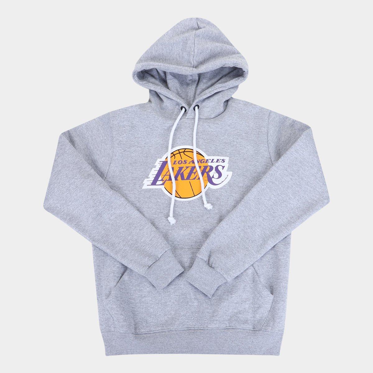 Moletom NBA Los Angeles Lakers Juvenil Canguru Masculino