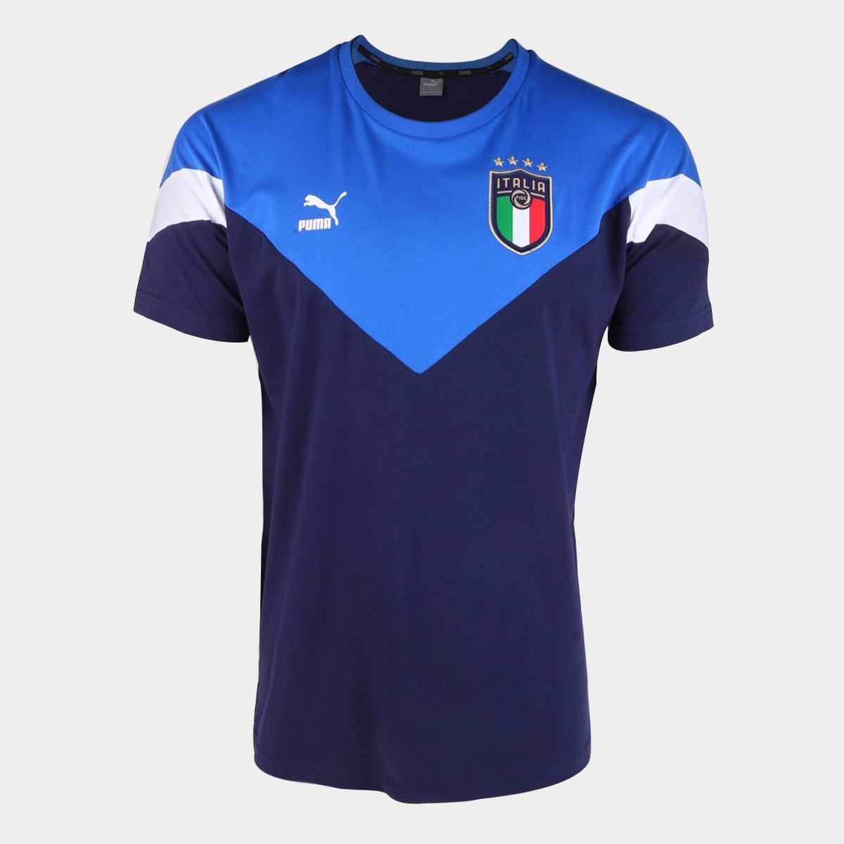 Camiseta Seleção Itália Puma Iconic Masculina