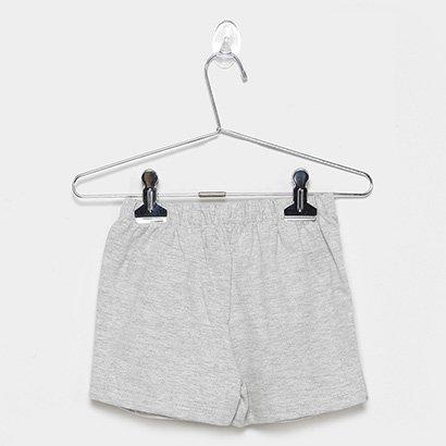 Shorts Infantil For Girl Moletinho C/ Cadarco Aplicado-3378