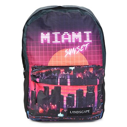 Mochila DMW Estampa Miami Sunset Vaporwave Masculina