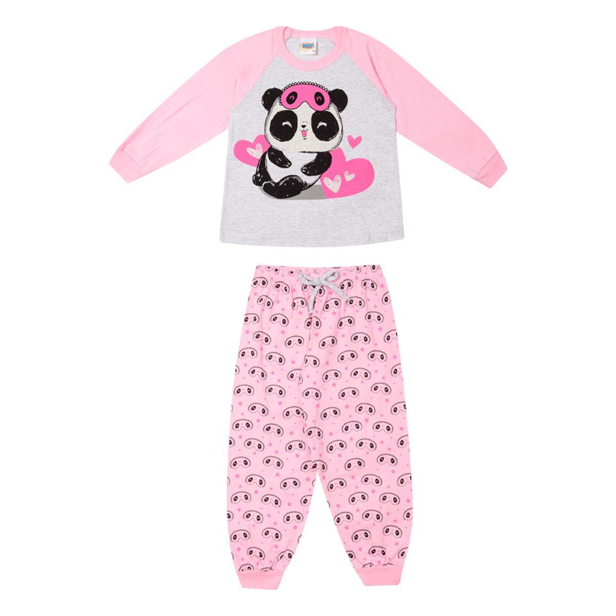 Pijama Bebê Longo Duzizo Pandinha Brilha no Escuro