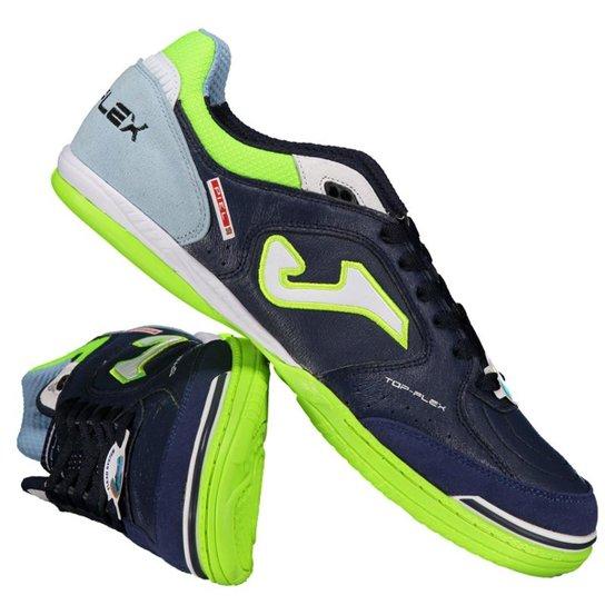 75b80a1a47 Chuteira Joma Top Flex Futsal Masculina - Marinho+Verde Limão