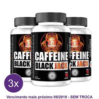 6a8f7e49e Kit 3x Termogênico Cafeína Black Jack Midway 90 Cáps
