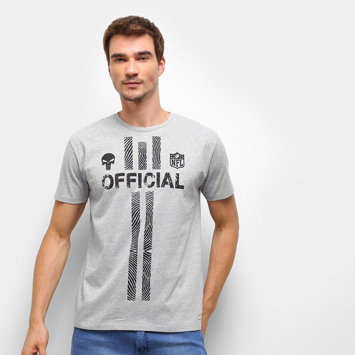 Camiseta NFL Punisher Marvel Masculina