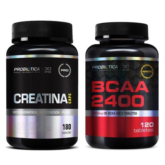 Combo 2X Creatina Caps 180Caps + 1X Bcaa 2400Mg 120 Tabs Probiotica ... d80b0cc5b6d2d