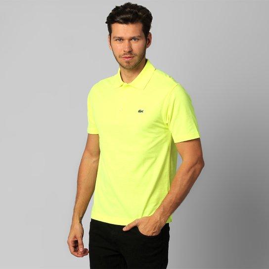 4067a8432db Camisa Polo Lacoste Super Light Masculina - Amarelo Claro - Compre ...