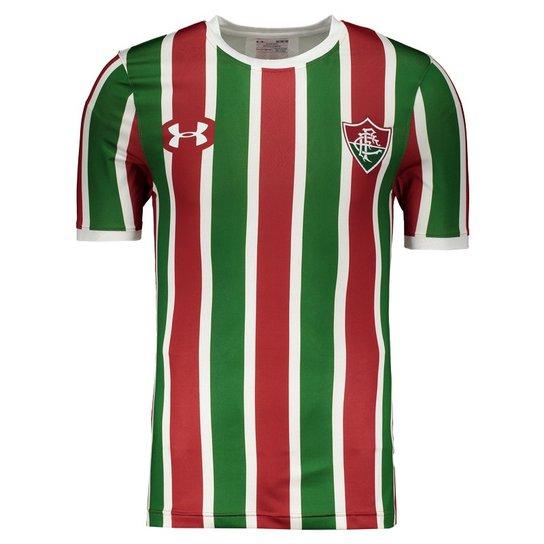 dfc6ce55a1b Camisa Under Armour Fluminense I 2017 Performance - Verde e Vermelho ...