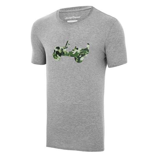 2463b0cc10 Camiseta JEEP Willys Military Jungle Masculina - Mescla Claro ...