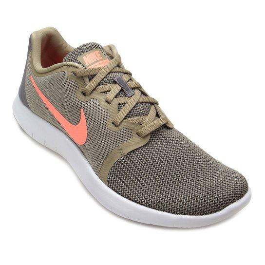 74d23b86d17 Tênis Nike Flex Contact 2 Feminino - Verde e laranja - Compre Agora ...