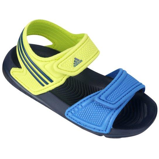 98bf6d4e06 Sandália Adidas Akwah 9 Infantil - Marinho+Verde Limão