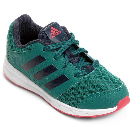 46aed834797 Tênis Adidas Lk Sport 2 K Text Infantil - Verde+Vermelho