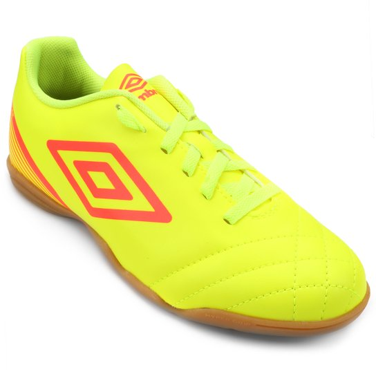 fec0ad8301 Chuteira Futsal Umbro Striker 3 Masculina - Amarelo Fluorescente+Vermelho