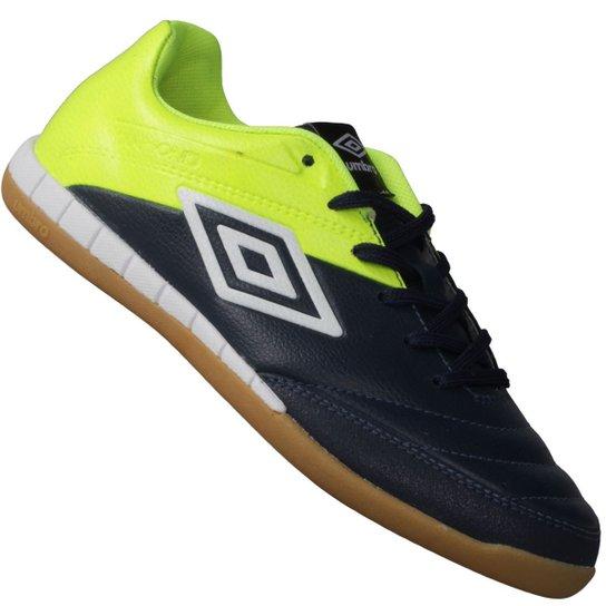 Tênis Umbro Indoor Diamond II Futsal - Marinho+Verde Limão 457a75537e28a