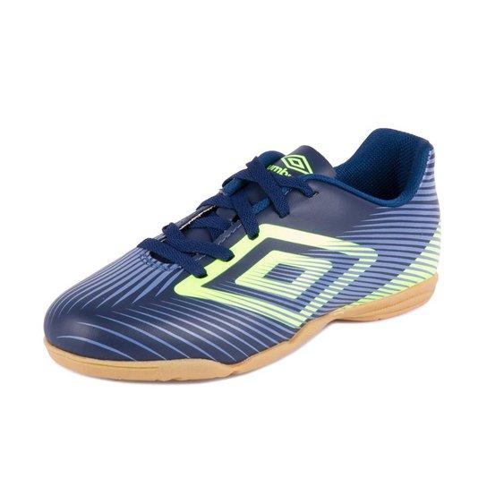 Tênis Futsal Footwear Speed Ii Jr - Umbro - Marinho+Verde Limão ... a675c19713db5