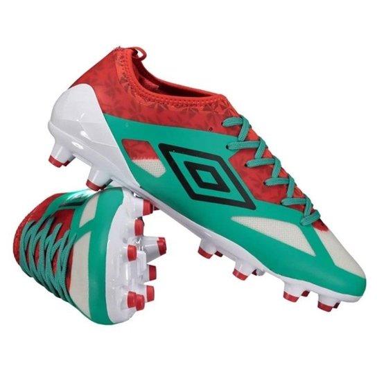 34fd44444a6c6 Chuteira Campo Umbro Velocita 3 Premier 0F70063 - Verde e Vermelho ...