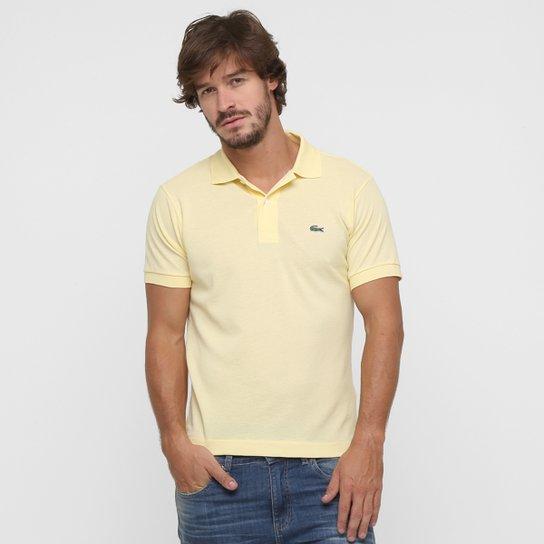 Camisa Polo Lacoste Piquet Original - Amarelo Claro - Compre Agora ... c359ee0e20c43