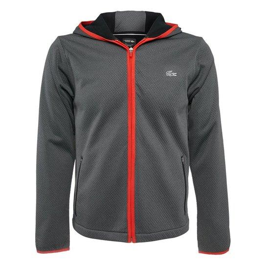 0dcd043cad7 Blusão Lacoste - Grafite e Vermelho - Compre Agora