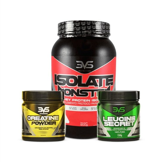 1b2ab5bfd Combo Isolate Monster - 3Vs - Sem Sabor - Compre Agora