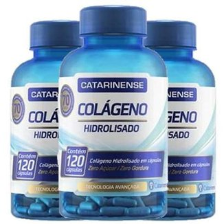 Kit 3 x Colágeno Hidrolisado  Catarinense 120 Caps.
