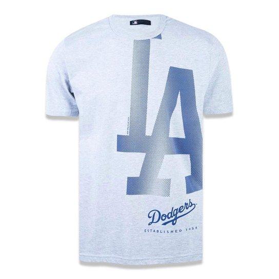 Camiseta Los Angeles Dodgers MLB New Era Masculina - Mescla Claro ... 45b05f0d713