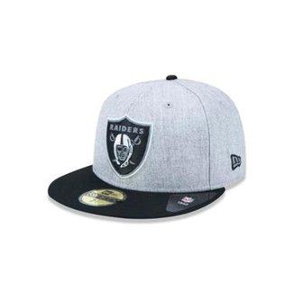 Boné 5950 Oakland Raiders NFL Aba Reta New Era 1b887f13e93