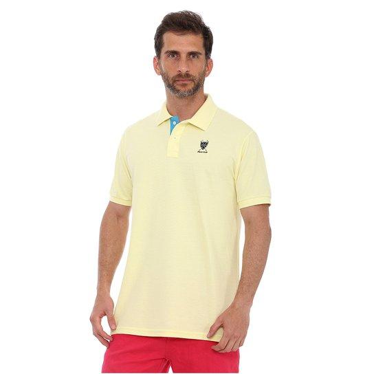 Camisa Polo New York Polo Club Slim - Amarelo Claro - Compre Agora ... 29535717aa658