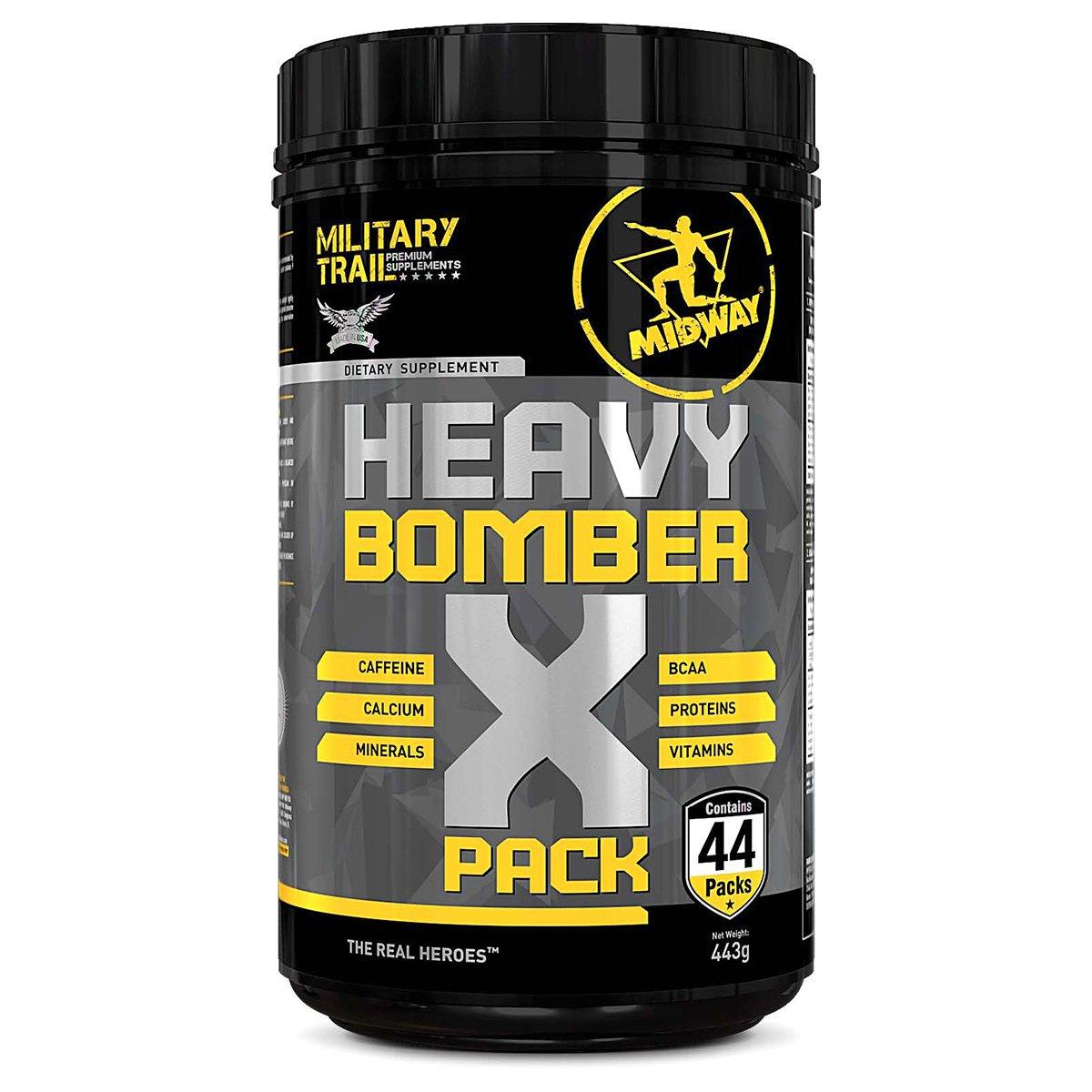 Heavy Bomber Military Trail Pack Pré Treino completo com cafeína, aminoácidos, vitaminas e minerais