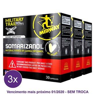 Kit 3x Somarizanol Military Trail  Precursor de testosterona e GH 30 Cáps -  Midway USA f8ef1d9f44
