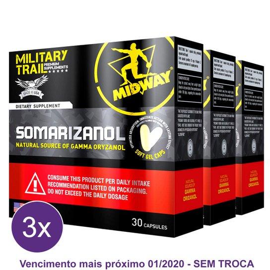 Kit 3x Somarizanol Military Trail  Precursor de testosterona e GH 30 Cáps - Midway  USA fc932ea5454d6