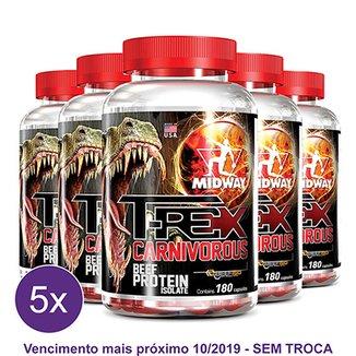 4d1187151 Kit 5x T-Rex Carnivorous - Proteína da Carne com creatina e ferro 180 Cáps