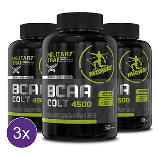 Kit 3x BCAA Colt Ultra Concentrado Military Trail 240 Caps