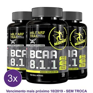 Kit 3x BCAA USA 8.1.1 Military Trail 120 Caps